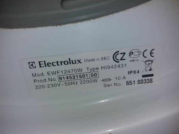 Пральна машина б/у Electrolux (EWF12470W)