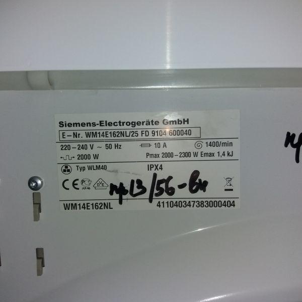 Пральна машина б/у Siemens (WM14E162NL)